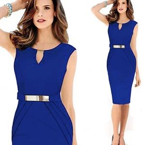 Elegant women's sleeveless bodycon dress